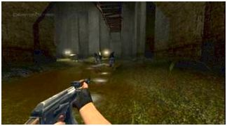 A screenshot from Counter-Strike: Source footage shown at E3 2004.