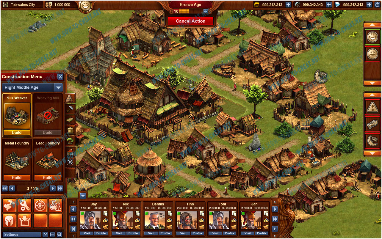 Finding cheats for forge of empires challenge with for hrs