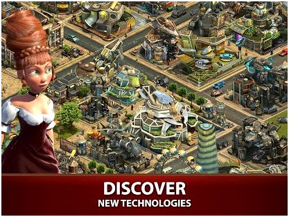 Forge of empires around the application store Download the application and