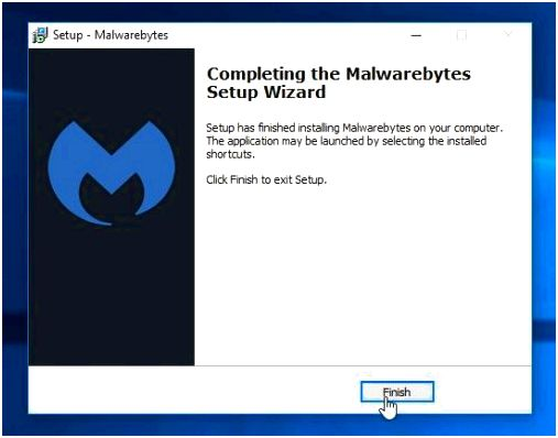 Completing the Malwarebytes Setup Wizard