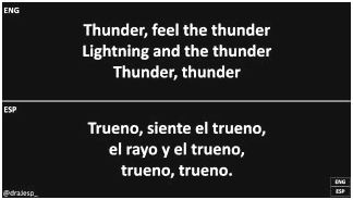 Imagine dragons – thunder lyrics saying you