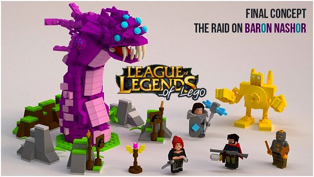 Lego Ideas Lol Of Lego The Raid On Baron Nashor Dozagames