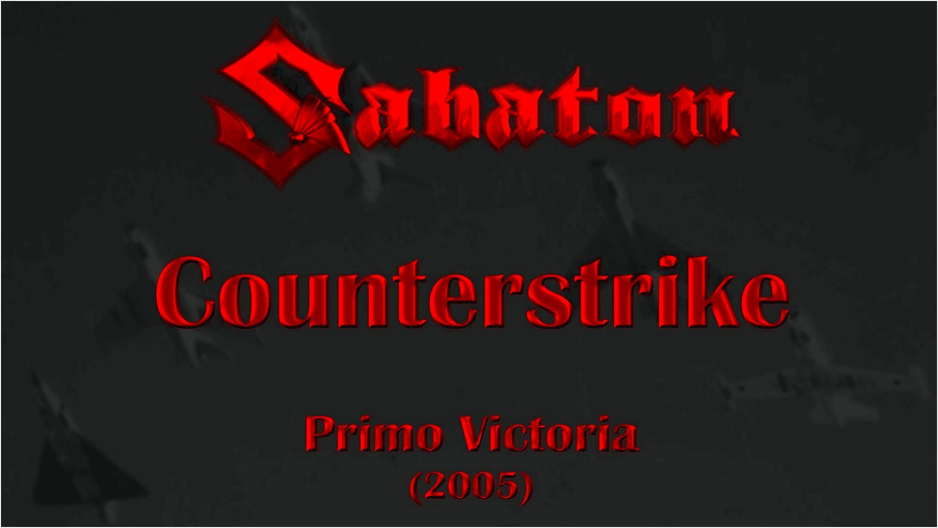 Sabaton – counterstrike lyrics 67 trained them